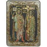 Святые равноапостольные Константин и Елена, Аналойная икона, 21 Х29