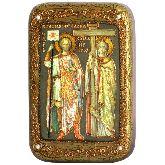 Святые равноапостольные Константин и Елена, Настольная икона, 10 Х15
