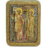Святые равноапостольные Константин и Елена, Подарочная икона, 15 Х20