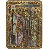 Святые равноапостольные Константин и Елена, Живописная икона, 21 Х29