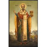 Купить икону Свт. Николай Чудотворец НЧ-17-8 12х7,5