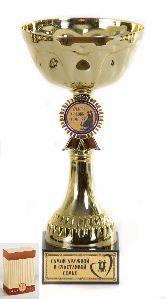 Кубок подарочный Чаша с эмблемой Самой дружной и счастливой семье