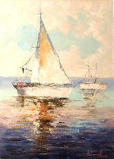 """Картина на холсте """"Парусная лодка"""""""