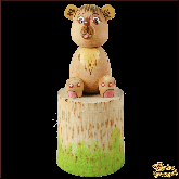 Коробочка из дерева ручной работы Мишка.