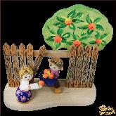Композиция из дерева ручной работы Яблочный спас.
