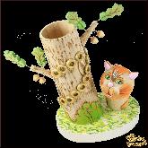 Карандашница из дерева ручной работы У Лукоморья.