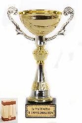 Кубок подарочный Чаша золотая с серебр.рельефными ручками За мастерство и профессионализм