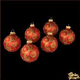 Набор стеклянных ёлочных шаров Завиток.
