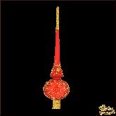 Ёлочное украшение из стекла Верхушка Гармония (красн.мат).