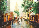 "Картина на холсте ""Дождь. Старый Арбат"""
