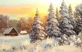 """Картина на холсте """"Зима за окном"""""""