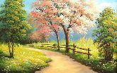 """Картина на холсте """"Весенняя прогулка в лес"""""""