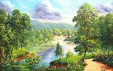 "Картина на холсте ""Летняя река"""