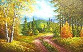 """Картина на холсте """"Лето в горах"""""""