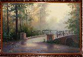 У моста туманным утром