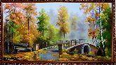 В осеннем парке у моста