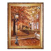 Уличный фонарь пейзаж из янтаря