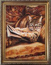 Умный котик из янтаря