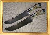 Узбекский нож (Пчак), Косуля большая (гарда, ручка мельхиор с садафом)
