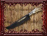 Узбекский нож (Пчак), Косуля мельхиор большой (клинок гравировка)