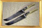 Узбекский нож (Пчак), Косуля средняя, мельхиор