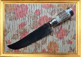 Узбекский нож (Пчак), Косуля большой, гарда мельхиор с садафом