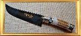 Узбекский нож (Пчак), Косуля большой мельхиор с садафом (клинок гравировка)