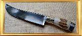 Узбекский нож (Пчак), Косуля большая мельхиор, заточка вогнутая линза