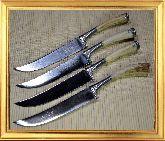 Узбекский нож (Пчак), Мини косуля (гарда олово), 95х18