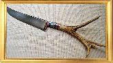Узбекский нож (Пчак), Косуля ветвистая большая с садафом