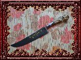 Узбекский нож (Пчак), Косуля натуральная малая с садафом