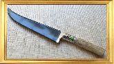 Узбекский нож (Пчак), Косуля средняя мельхиор, заточка вогнутая линза