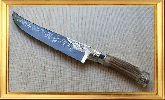 Узбекский нож (Пчак), Косуля большая с садафом (узорная гарда), заточка вогнутая линза
