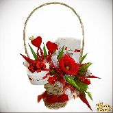 Букет цветов Валентинка