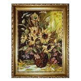 Ваза с цветами картина из янтаря