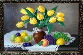 Ваза желтых тюльпанов