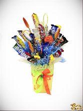 Букет цветов Ведерко с шоколадом