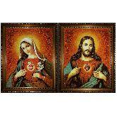 Венчальная икона Непорочное Сердце Иисуса и Девы Марии