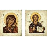 Стоимость иконы Венчальные Пары арт ВП-02к 18х15