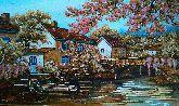 Весенний городской пейзаж из янтаря