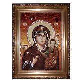 Влахернская Богородица икона из янтаря