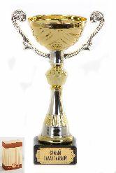 Кубок подарочный Чаша золотая с серебр.рельефными ручками Самый талантливый