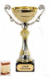 Кубок подарочный Чаша золотая с серебр.рельефными ручками Самый успешный