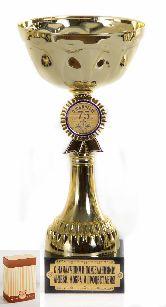 Кубок подарочный Чаша с эмблемой С юбилеем 75 лет