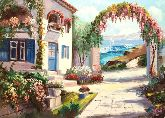 "Картина на холсте ""Курортный городок"""