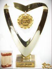 Кубок подарочный Сердце Талисман счастья 18см