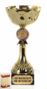 Кубок подарочный Чаша с эмблемой С юбилеем 65 лет