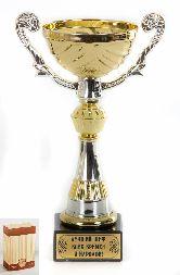 Кубок подарочный Чаша золотая с серебр.рельефными ручками Лучший шеф всех времен и народов