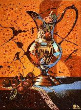 Картина из янтаря Зеркальный кувшин