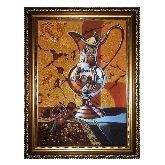 Зеркальный кувшин натюрморт из янтаря